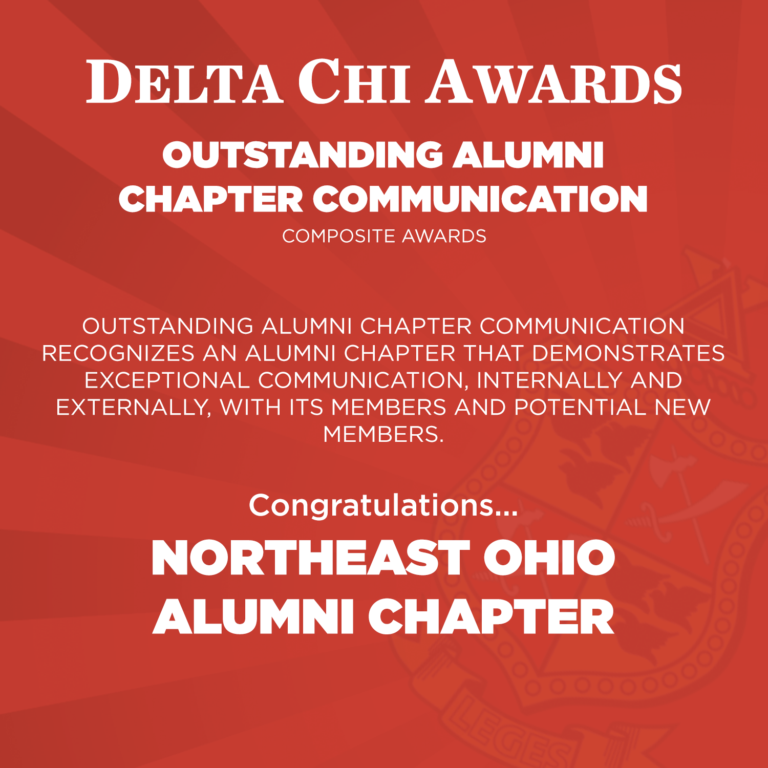 Outstanding Alumni Chapter Communication