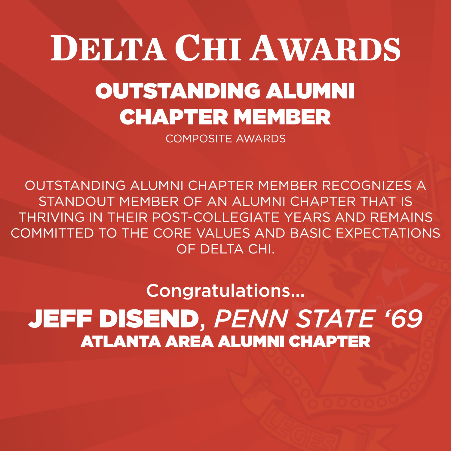 Outstanding Alumni Chapter Member