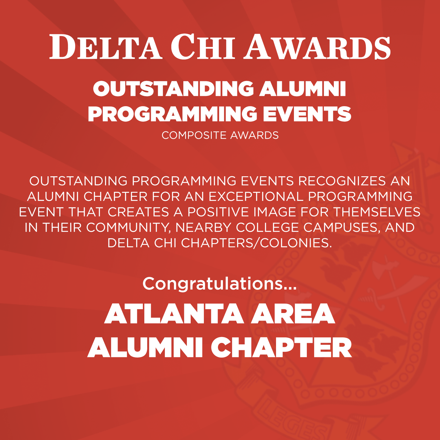 Outstanding Alumni Programming Events